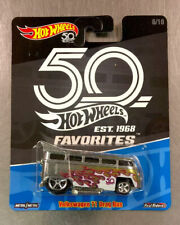 HOT WHEELS 50 FAVORITES VOLKSWAGEN T1 DRAG BUS PANEL REAL RIDERS TIRES FREE SHIP