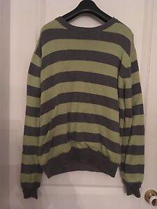 Hurley Reversible Sweater Grey/Green Medium