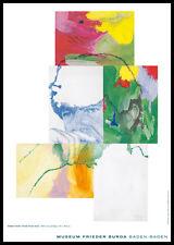 Sigmar Polke Portrait Frieder Burda Poster Bild Kunstdruck im Alu Rahmen 59x84cm