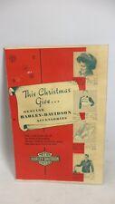 Original 1950s Harley Davidson Motorcycle Christmas Brochure Catalog Gift Book