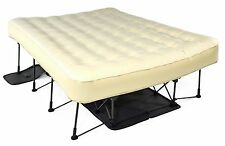 Ivation EZ-Bed (Queen) Air Mattress With Frame & Rolling Case, Self Inflatable,