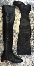 JIMMY CHOO leather over-the-knee boots black Leather/suede Lined sz 38.5 $1550