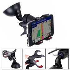 Soporte Universal de Coche Parabrisas Pinza doble 360 Luna con Ventosa Movil GPS