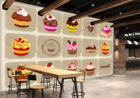 3D Sahne Kuchen Essen 557 Tapete Tapeten Mauer Foto Familie Tapete Wandgemälde