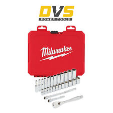 Milwaukee 4932464943 28 Piece 1/4'' Metric Ratcheting Sockets Set