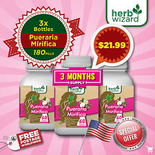 180 Pills Pueraria Mirifica Natural Breast Bust Enlargement KIT DEAL