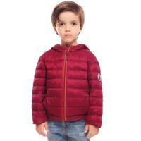 Kids Boys' Lightweight Hooded Packable Down Jacket Winter Puffer Coat Outwear