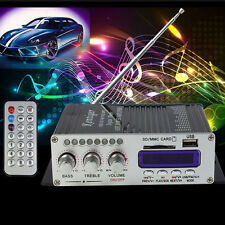 2CH 200W Power Mini HiFi Audio Stereo AMP LED Amplifier Built-in FM For iPod Car