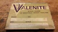 (1) VALENITE CARBIDE INSERTS TEG 422J VC5