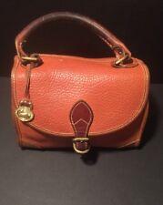 Vintage DOONEY & BOURKE   Leather Satchel Doctor Bag Flap One Handle