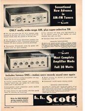 1955 H.H. Scott Hi-Fi 330 Am/FM Tuner 210-D Amplifier Vtg Print Ad