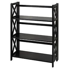 Casual Home Montego 3-Shelf Folding Bookcase -Black NEW