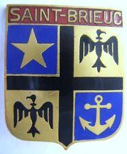 SAINT BRIEUC insigne ancre marine ancien en émail authentique