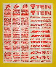 RC Drift FLUORESCENT ORANGE stickers decals HPI Losi Drift-R Kyosho