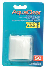 Hagen AQUACLEAR 50 POWER FILTER  NYLON FILTER MEDIA BAGS Aquarium Fish 2 Pak