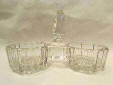 ancienne saliere poivriere en verre taillé moulé epoque 1920