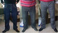 Mens Jeans Navy Black Grey 32L 34L 36L 38L 34W to 54W R L XL XXL tall plus big