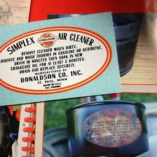 Clinton Engine Doodle Bug, Red E Tractor Simplex Donaldson Air Filter Decal