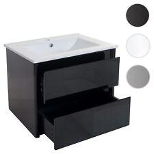 Waschbecken + Unterschrank HWC-B19, Waschbecken Waschtisch Badezimmer, hochglanz