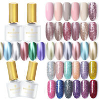 BORN PRETTY 6ml Smalto Gel UV per Unghie Paillettes Glitterati Nail Gel Polish