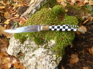 couteau laguiole damier  sandvik     ancien de poche