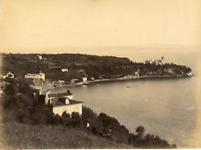 Italie, Trieste, Castello di Miramare, vue panoramique  Vintage albumen print
