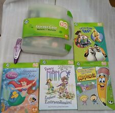 Leap Tag Leap Frog Set - 5 books + Pen + New Carrying Case