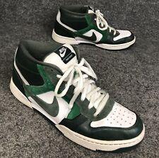 "c659bda92da5 Nike ""Skeet"" Green   White Leather Skateboard Shoes Mens Sz 13 In EUC"