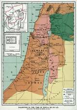"Palestine in the time of JESUS CHRIST 24"" x 34"" MAP Vintage Repro MIDDLE EAST"