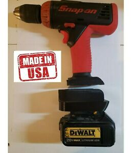 Snap On 18v nicad to Dewalt lithium battery adapter Global shipping
