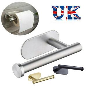Self Adhesive Toilet Roll Holder Bar Towel Rail Rack Stainless Steel
