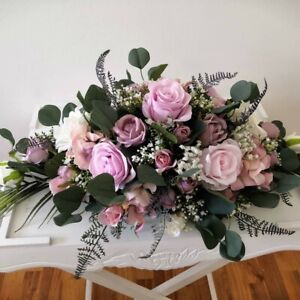 Dusty Lilac, Lavender, Pale Pink and White Top Table Arrangement 60cmx45cm appro