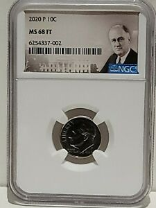 2020-P Roosevelt Dime NGC MS68 FT Full Torch