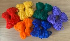 🌈 Rainbow Dk Double Knitting Yarn Wool Joblot Crochet Craft Toys Pompoms Bundle