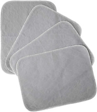 Kluein Pet Training Pads for Dogs | 4-Pack Grey | Non-Slip Absorbent | Washable