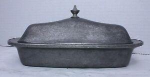 Vintage Wilton Pewter Armetale Butter Dish Mount Joy Design