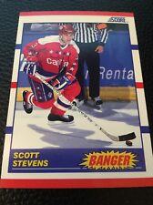 Scott Stevens    Capitals 1990-1991 Score  Banger#341
