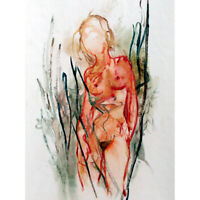 Women Nude Sketch Painting Canvas Wall Art Print Poster