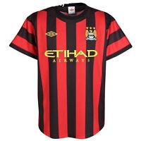 Manchester City Football Shirt Umbro Mens Away Red Black Jersey 2011-12