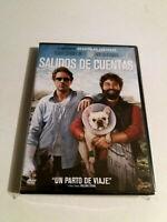 """DVD """"SALIDOS DE CUENTAS"""" COMO NUEVO TODD PHILLIPS ROBERT DOWNEY JR ZACH GALIFIAN"""