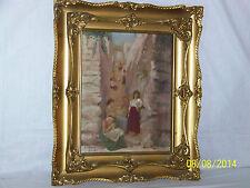 "Orientalist Antique ""Rennes"" Original Oil On Canvas Artist Signed"