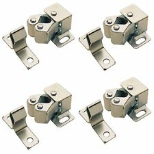 4 x ROLLER CATCH CUPBOARD CABINET DOOR  LATCH TWIN DOUBLE CATCHES CARAVAN BOAT