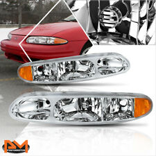 For 99-04 Oldsmobile Alero Replacement Headlight/Lamps Chrome Housing Amber Side (Fits: Oldsmobile Alero)