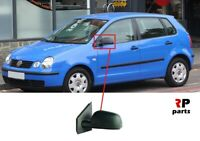 FOR VW POLO (9N) 2001 - 2005 NEW WING MIRROR MANUAL BLACK LEFT LHD