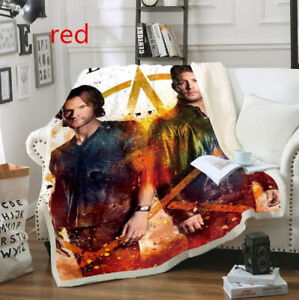 Cool Supernatural 3D Print Sherpa Blanket Sofa Couch Quilt Cover Throw Blanket