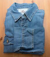 Hollister Blue Denim Shirt Size M