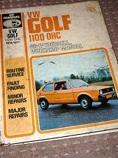 Classic VW MK1 Golf 1100cc Workshop Manual 1974-1977