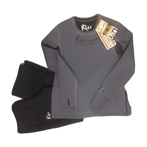 Kutting Weight Sauna Complete Suit Neoprene Long Sleeve Gray Size 3XL Cutting