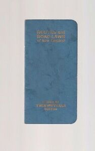 1926 Routes And Road Laws of New England Issued By Twin Mutuals Booklet