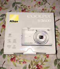 Excellent Nikon Coolpix S3600 20.1 MP Camera - SILVER - 018208264513